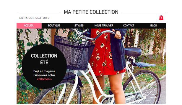 Mode et vêtements website templates – Collections Boutique