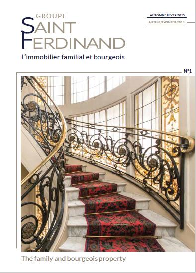Magazine Printemps Eté du Groupe Saint Ferdinand notre expert immobilier à Paris