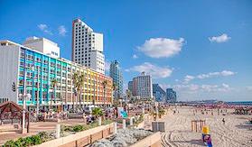 Tel Aviv-vue sur la promenade