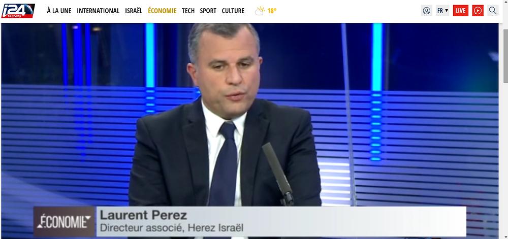 Interview Laurent Perez i24 News- Hausse des prix des logements