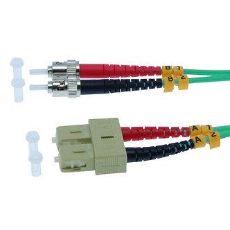 1m SC-ST 10Gb 50/125 OM3 M/M Duplex Fiber Cable