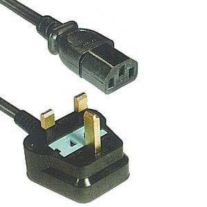 6Ft UK Power Cord Black H05VV-F0.75/3G