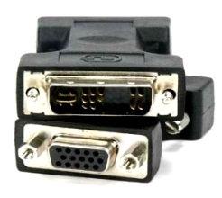 DVI-A Male (12+5) / VGA (DB15HD) Female Adapter