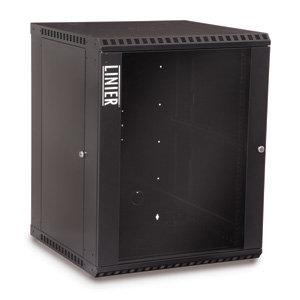 15U Fixed Wallmount Cabinet Glass Door