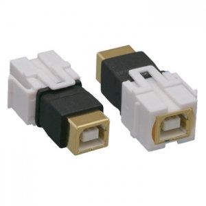 USB 2.0 B F/F Keystone Insert Flush