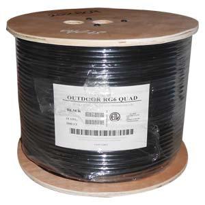 1000Ft RG6 Bare Copper CMP (Plenum) Quad Shield