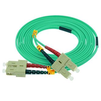 2m SC-SC 10Gb 50/125 OM3 M/M Duplex Fiber Cable