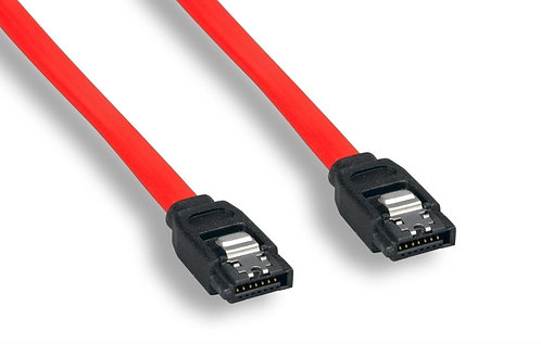 1M 180 Degree 7 Pin W Latch Serial ATA Cable