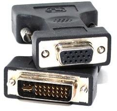 DVI-I Male (24+5) / VGA (DB15HD) Female Adapter