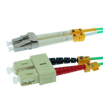 10m LC-SC 10Gb 50/125 OM3 M/M Duplex Fiber Cable