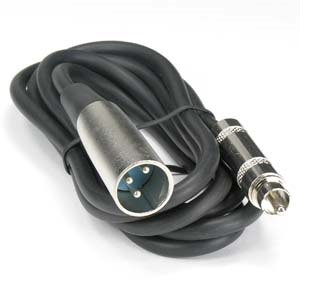 25Ft XLR 3P Male to RCA Male