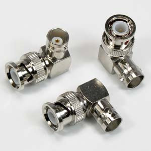 BNC Male/Female Right Angle Adapter