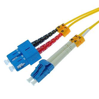1m LC-SC Duplex Singlemode 9/125 Fiber Optic Cable