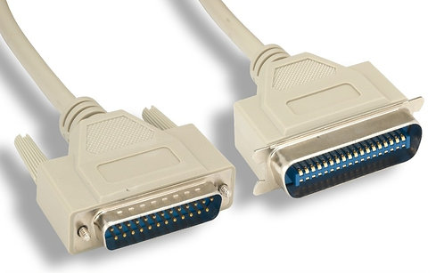 10Ft. DB25 Male to Centronics 36 Male Printer Cable