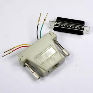 DB25 Male to RJ11 Modular Adapter, Ivory