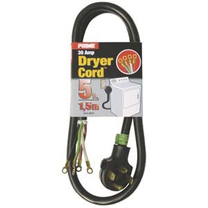 5Ft 10/4 30 Amp 4-Wire Dryer Power Cord