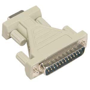 DB9-F/DB25-M Serial Adapter, Thumbscrew