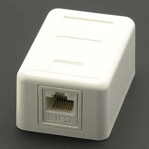 Cat.6 1-Port Surfacemount Box
