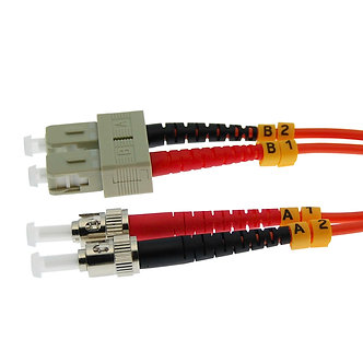 2m SC-ST Duplex Multimode 62.5/125 Fiber Cable