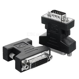 DVI-I Female (24+5) / VGA (DB15HD) Male Adapter