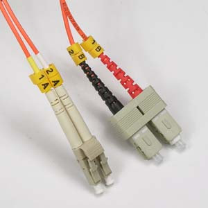 5m LC-SC Duplex Multimode 50/125 Fiber Optic