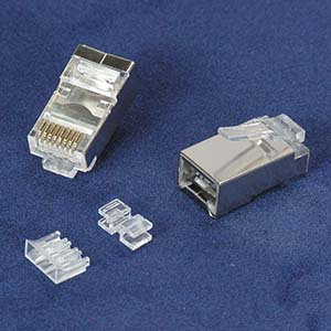 Cat.6A Shielded Plug Solid 3pc type