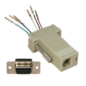 DB9 Female to RJ11/12 (6 wire) Modular Adapter