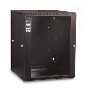 15U Swing Out Wall Mount Cabinet Glass Door