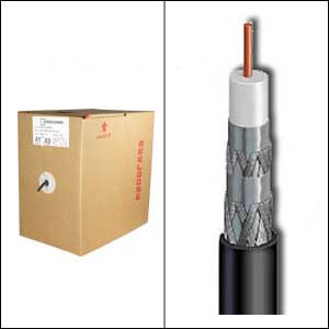 500Ft RG6 CMR CCS Quad Shield Coax Cable Black CMR