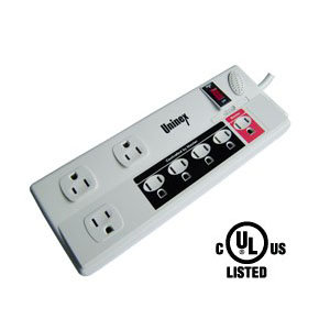 8 Outlet Power Managed Energy Controlled Surge Protector