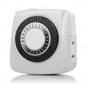 24 Hour Mini Mechanical Timer 2-Prong Plug