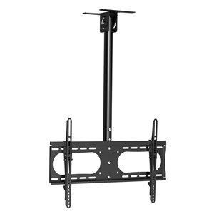 "Flat TV Ceiling Mount Adjustable Pole Angle 37""~65"" Tilt"