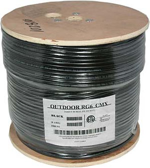 1000Ft RG6 CCS Dual Shield Direct Burrial Outdoor