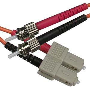1m SC-ST Duplex Multimode 50/125 Fiber Optic Cable