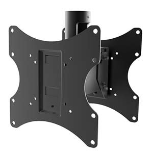 """Flat TV Back to Back 1.5"""" NPT Ceiling Dual Mount 200x200mm CE8-0522"""