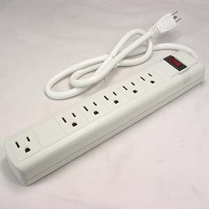 6Ft 6-Outlet Perpendicular Surge Protector