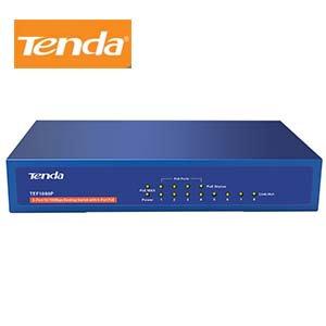 8Port 10/100Mbps Desktop Switch w/4 PoE Ports Tenda TEF1008P