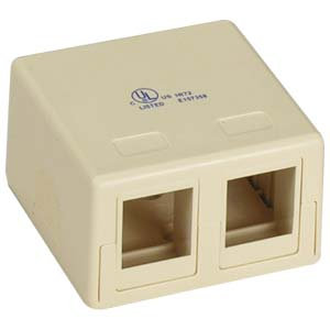2 Port RJ45 Surface Mount Box (Box only)