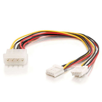 """8 inch 5.25"""" to (2) 3.5"""" Y Splitter Cable"""