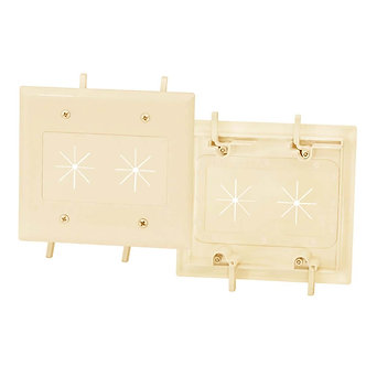 Cable Plate with Flexible Opening 2-Gang