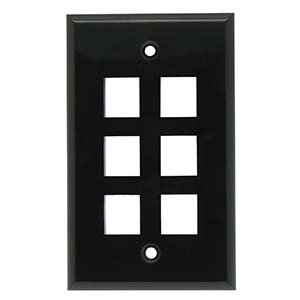 6Port Keystone Wallplate Smooth Face