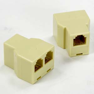 RJ12 1Jack/2Jack T adapter, Reversre(Pin1-Pin6)