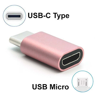USB Micro Female to Type C Male Adapter