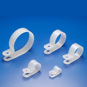 "R-Type Cable Clamp 1"" Clear 100pk"