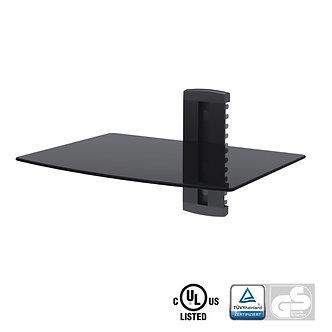 Aluminum/Tempered Glass DVD Mount Single Deck