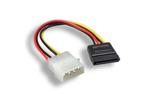 6 Inch 5.25 Male to SATA Power Cable