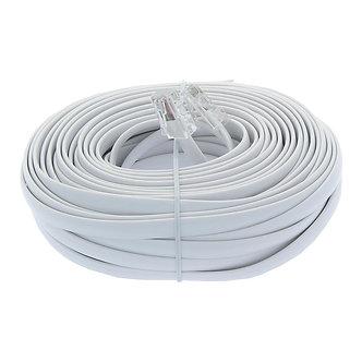 50Ft RJ45 Modular Cable Straight White Jacket