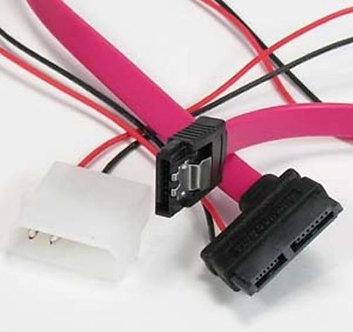 """SATA 7-Pin to SATA 7+6-Pin Hard Disk Cable 16"""""""
