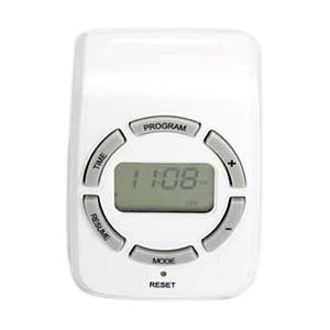 Weekly Digital Timer Single 3-Prong Outlet Programmable
