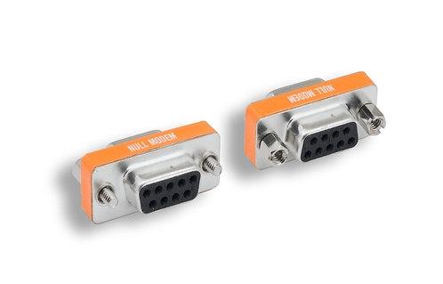 DB9 F/F Null Modem Mini Adapter
